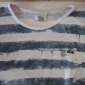 NWOT Lacoste Striped T-Shirt, S